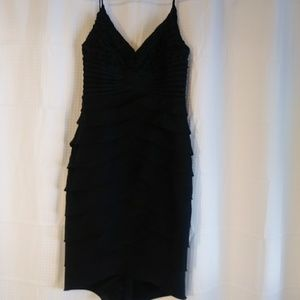 Black dress great for valentines day with red acce